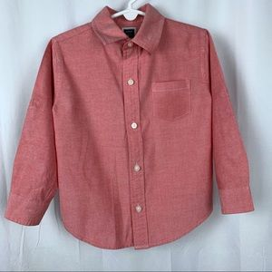 Janie and Jack red/white button down, size 3